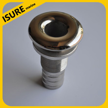 "316 Stainless Steel polished Marine Boat hardware 3/4"" through hull drain"
