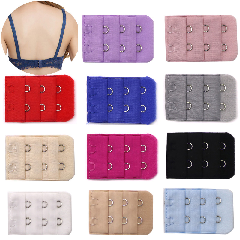 wholesle 12 pcs x 2 Hooks 3 hooks Ladies Extender Bra Extension Strap Underwear