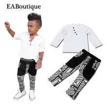 EABoutique Winter New fashion boys clothes kids boys tracksuit with button designs 2 piece set