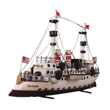 Model Building Kits Ship Model Iron Sheet 1:100Scale Iron Sheet Sailboat Model Harvey Sailing Assembled Kit DIY Ship(China)