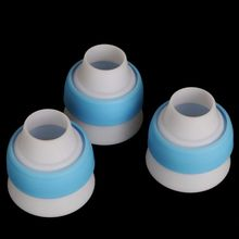 New 3pcs/set Russian Nozzles Icing Piping Bag Cream Converter Coupler Cake Decor Tool Wonder(China)