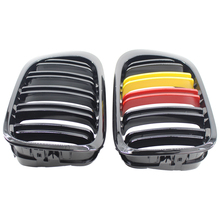 1 pair of car double line red and yellow grid grille for BMW E46 318CI 320CI 323CI 325CI 328CI 330CI 2 door 98-2001