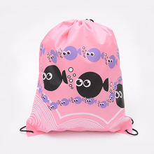 Women's For Girls String Bag Drawstring Backpack Waterproof Portable School Bags(China)
