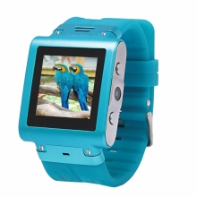 W838 waterproof quadband Watch Mobile phone with Stainless Steel body,camera,Java,Bluetooth,MP34, free shipping 5 colors