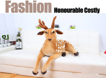 simulation animal large 75cm prone sika deer plush toy throw pillow birthday gift b4894(China)
