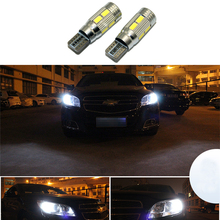 2x Led W5W T10 canbus Car Light with Projector Lens for chevrolet equinox taho spark cruz camaro lacetti niva aveo cruze cobalt