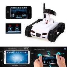 WiFi RC Mini Tank Car with Video 0.3MP Camera 777-270 Remote Control By Iphone Android Robot with Camera 4CH APP White