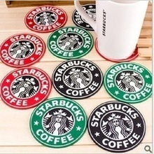 Fashion starbucks cup mat Creative household heat non-slip silicone cup mat cup mat eat mat