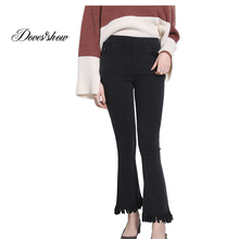 Buy Women High Waist Stretch Flare Pants Spring Plus Size Jeans Leggings Casual Ankle Length Pants Women's Clothing Trousers Pocket for $11.55 in AliExpress store