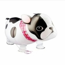 10pcs/lot Walking Animal Bulldog Foil Balloons in Littlest Pet Shop Kids Toys Dog Ballons for Party Decortion