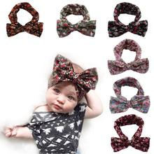 FEITONG childrenl Elastic Bowknot Headband Hair Band Bohemia Headdress comfortable headbands for girls kids scrunchy