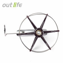 Outlife 80 to 200mm Stainless Steel Wire Cage Hand Gear Eight Trigram Fishing Reel Wheel Fish Anchor Accessory(China)