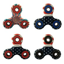EDC Hand Spinner  Amrican National Flag ABS Bearing Fidget For Autism ADHD Anxiety Stress Toy