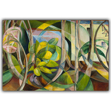 Swanzy Mary Abstract Geometric Painting of Plants Art Image For Home Decoration Silk Canvas Fabric Print Poster Wallpaper CX205