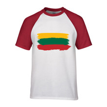 2017 lithuania mens Sleeves t shirt lithuania print chemise homme manchester camisas para hombre united jersey(China)