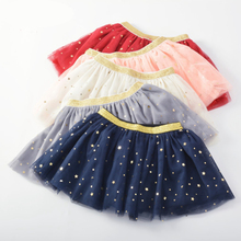 2017 New Baby Princess Tutu Skirt Kids Girls Lovely  Ball Gown Skirt Fashion Sequined Girls Tutu Pettiskirt for 1-5Y 4 Layers