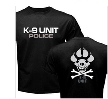 K-9 Special Unit Police Dog Foot Canine Men's Casual Shirts Summer Tops Short Sleeve 100% Cotton T-shirt