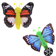 2pcs magic flying butterfly change from empty hands freedom butterfly close up magic tricks kids toy funny gadgets