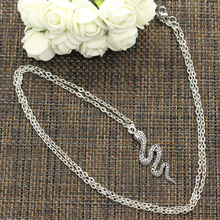 New Fashion Necklace cobra snake 42*14mm Silver Pendants Short Long Women Men Colar Gift Jewelry Choker(China)