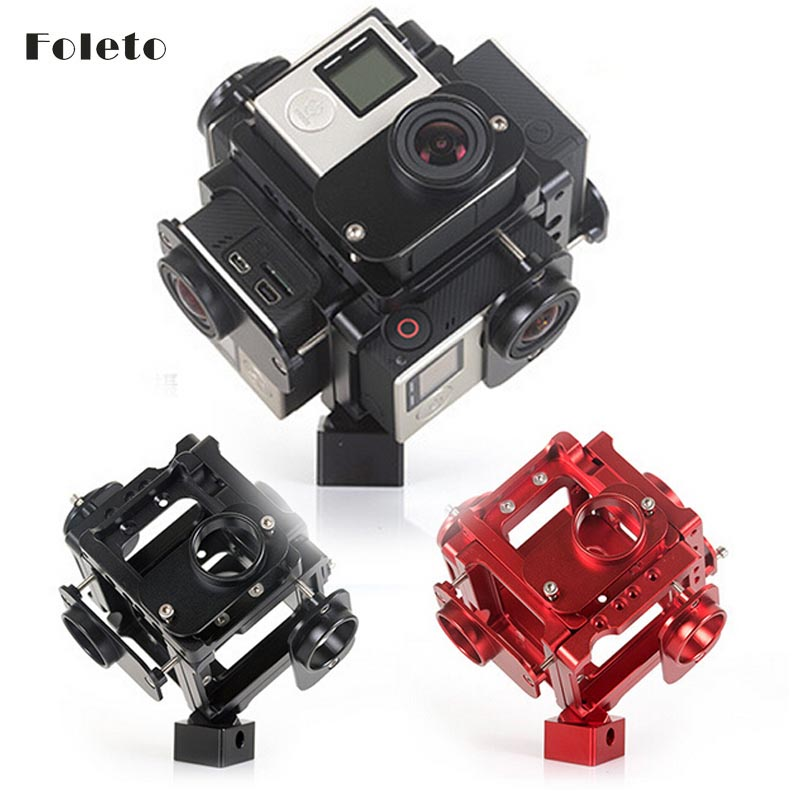 360720 Degree VR Full Shot Aerial FPV Panoramic Imaging Photography Video Recorder Capture Square Bracket Cage Monopod gopro ant<br><br>Aliexpress