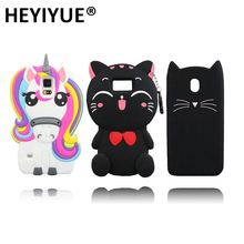 Lucky Cat Unicorn Silicone Phone Case Cover For Samsung Galaxy S4 S3 S5 S6 S7 S8 Plus Edge J2 J3 J5 J7 2016 2017 Prime A3 A5 A7(China)