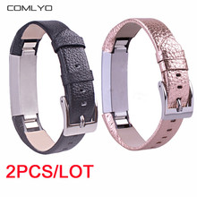 2PCS High Quality Replacement Wrist Band For Fitbit Alta /alta hr Band bracelet fitness tracker banda bandje Genuine Leather(China)