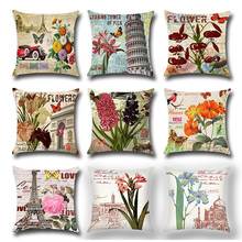 Fashion Retro Vintage Inspired Cushion Covers Sofa Throw Pillow Cover Cases Home Textiles Furnishings Accent Pillow Holiday Gift