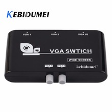 Kebidumei Nieuwe 2 In 1 Out VGA/SVGA Manual Sharing Keuzeschakelaar Switcher Box Voor LCD PC(China)