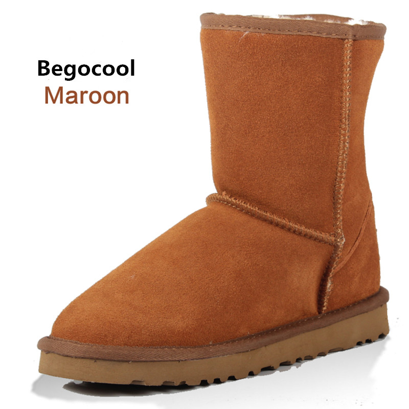 Begocool Brand Classic Australia Boots Winter Boots Fur Leather Ankle Boots Winter Warm Women Snow Boots size 4-13<br>