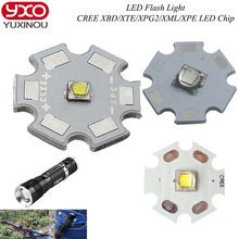 1pcs Cree XPG2 XM-L T6 XBD R3 / XP-E R3/R5 / XT-E R5 LED Flashlight light Bulb Chips UV LEDs Diode Cool White with 20mm base(China)