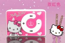Wholesale Quality Hello Kitty Cat Mini MP3 Music Player with TF Card Slot for leisure (no accessories)
