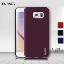 Turata Ultra Thin Coated Protective Cover PC Back Shell Funda Case For Samsung Galaxy S6 / S6 Edge(China)