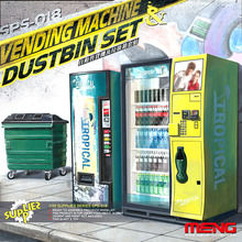MENG SPS-018 1/35 Scale  Vending Machine and Dustbin Set Plastic Model Building Kit