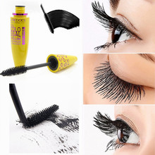 1pcs Fashion Yellow Leopard Colossal Black Mascara Volume Extension Length  Long Makeup Cosmetic Curling Waterproof Eyelashes