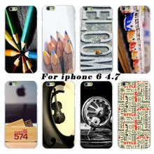 2017 latest fashion white hard shell protective shell phone cases retro atmosphere cases cover For Apple iphone 6 4.7 case