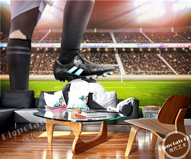 Custom photo wallpaper, football on the lawn for the living room bedroom TV background wall waterproof papel de parede<br>