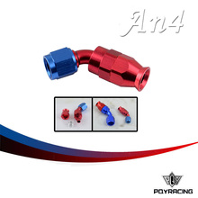 PQY RACING- High Quality PTEF AN4 AN-4 45 DEGREE REUSABLE SWIVEL TEFLON HOSE END FITTING AN4 PQY-SL6045-04-311