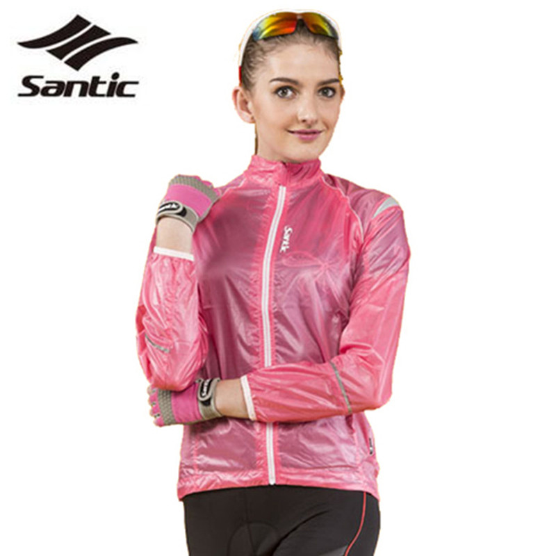 SANTIC Ultrathin Cycling Windproof Coat Compressed Reflective Long Sleeve Waterproof Bicycle Windcoat Bike Clothes with A Pocket<br><br>Aliexpress