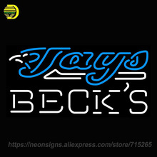 Neon Sign for Becks Toronto Blue Jays MLB Handcrafted Neon Signs Lights Store Display Neon Bulbs Sign Signboards BRAND Art Lamps(China)