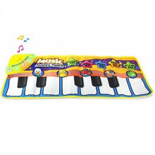 Kid Fun Toy Gift Anti-stress Boy Girl Educational Toys Baby Kids Story Cloth Book Magic Doodling Water Drawing Music Mats(China)