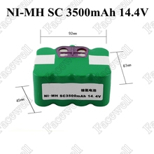 3500mah 14.4v nimh battery pack for XR210C/XR210 Sweeping robot Vacuum Cleaner 3500mAh Ni-MH rechargeable battery(China)
