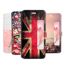 Ultra Thin Colorful Painting Magnetic Flip Leather Stand Case For HUAWEI P10 Slim Phone Cover Fundas Capa Coque With View Window(China)