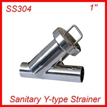 1'' Sanitary Stainless Steel SS304 Y type Filter Strainer f Beer/ dairy/ pharmaceutical/beverag /chemical industry(China)