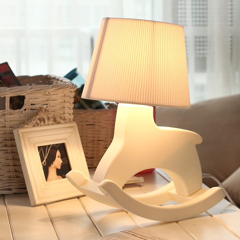 Rocking Horse Desk Lamp Creative Fashion Household Desk Lamp Simple Modern Style Sitting Room Bedroom Study Desk Lamp<br><br>Aliexpress