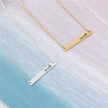 "Fashion Personality Bar Pendant Lettering""Be Still""Necklace Jewelry Gold Silver Bar Necklace Handmade Letter Necklace Gift Idea"