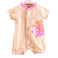 Cute Ladybug Newborn Baby Girl Romper Short Sleeve Baby Rompers Fantasias Infantil Bebes Jumpsuit Girls Clothes Infant Clothing