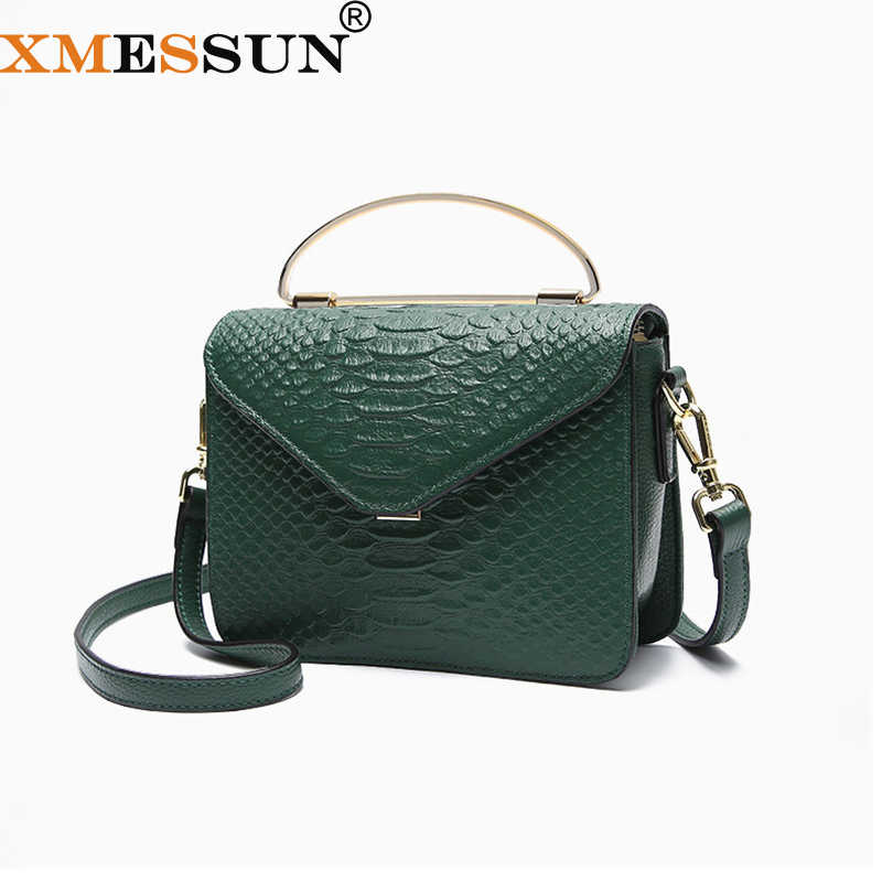 14a23befb9 XMESSUN Snake Bag Genuine Leather Handbag Luxury Handbags Women Bags  Designer Crocodile Texture Shoulder Crossbody Dropship