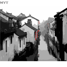 DIY oil painting by numbers canvas Chinese style picture adult coloring paint acrylic painting calligraphy by number wall decor