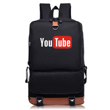 2017 New Arrival YouTube Backpacks for teenagers canvas bags fashion backpacks for women(China)