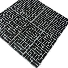 2019 New Trend 10 PCs/pack Vinyl Self-adhesive 3D Black Mosaic Wall Kitchen Bathroom Backsplash Waterproof and Removable Tile(China)